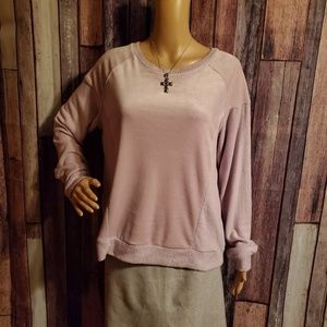 Hippie Rose Soft Purple Long Sleeve Top Sz. XL